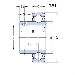 SKF YAT 203 (17x40x22,1)